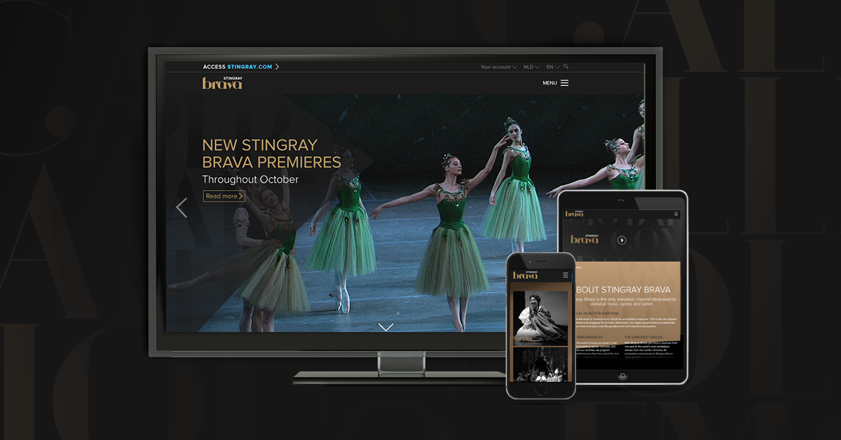 The new Stingray Brava website
