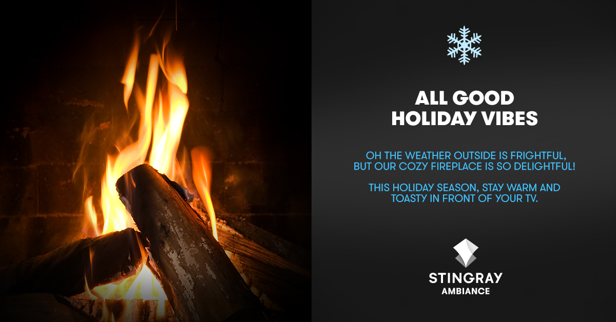 Stingray Ambiance: Oh the Weather Outside is Frightful, but our Cozy Fireplace is so Delightful!